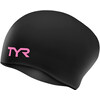 TYR Silicone Wrinkle-Free Bathing Cap Women pink/black